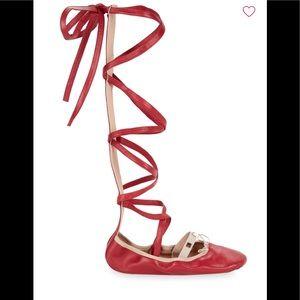 Valentino Garavani Crisscross Strap Ballet Flats